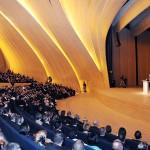 Выступление Ильхама Алиева в Центре Гейдара Алиева