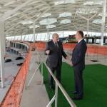 Джахангир Аскеров и Ильхам Алиев в здании нового международного аэропорта