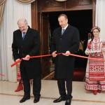 Президенты Александр Лукашенко и Ильхам Алиев