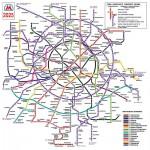 Возможная схема метро Москвы 2025 года